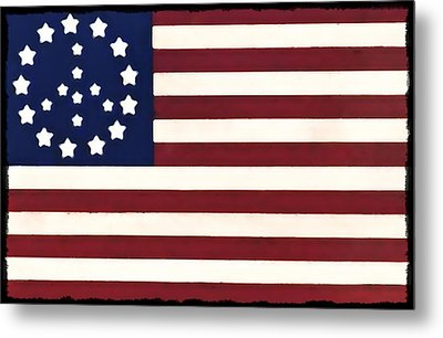 Peace Flag Metal Print by Bill Cannon