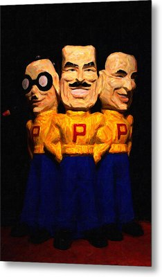 Pep Boys - Manny Moe Jack - Painterly - 7d17428 Metal Print by Wingsdomain Art and Photography