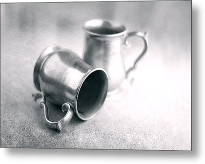 Pewter Tankards Still Life Metal Print by Tom Mc Nemar