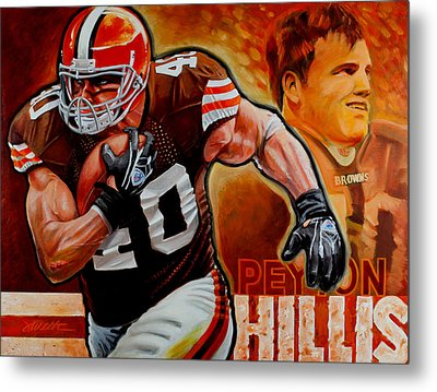 Peyton Hillis Metal Print by Jim Wetherington