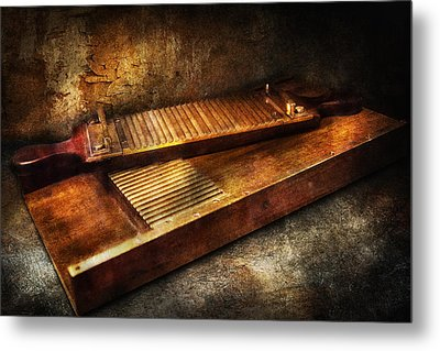 Pharmacy - Traditional Pill Crusher  Metal Print by Mike Savad