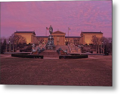 Philadelphia Art Museum At Dusk Metal Print by Kenneth Garrett