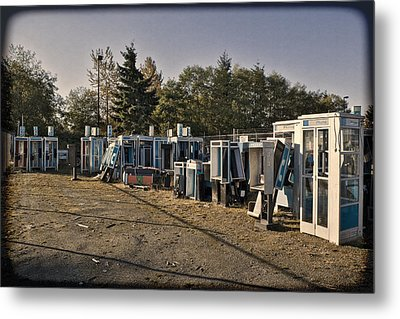 Phone Booth Graveyard Metal Print by Kelley King