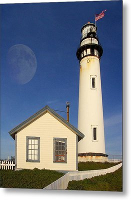 Pigeon Point Lighthouse Metal Print by Wingsdomain Art and Photography