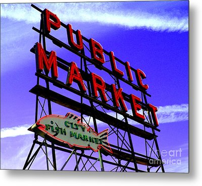 Pike's Place Market Metal Print by Nick Gustafson