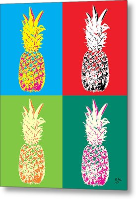 Pineapple 33 Metal Print by Flo Ryan
