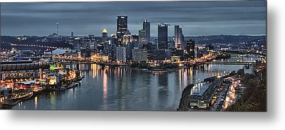 Pittsburgh Skyline 2 Metal Print by Wade Aiken