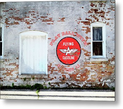 Play Ball With Flying A Metal Print by Sandy MacGowan