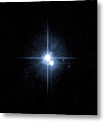 Pluto And Its Moons Charon, Hydra Metal Print by Stocktrek Images