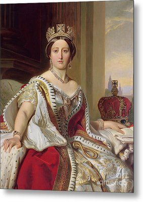 Portrait Of Queen Victoria Metal Print by Franz Xavier Winterhalter