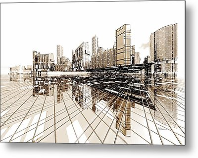 Poster-city 4 Metal Print by Max Steinwald
