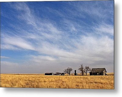 Prarie House Metal Print by Peter Tellone