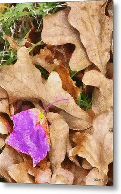 Punk Leaf Metal Print by Jeff Kolker