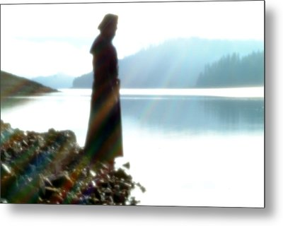 Rainbow And The Lake Metal Print by Tim Cargill