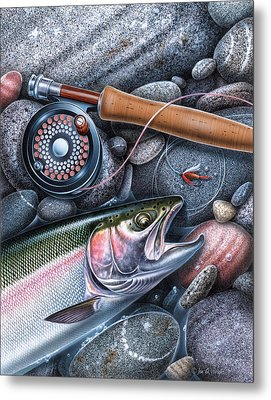 Rainbow Trout Metal Print by JQ Licensing
