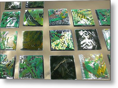 Rainforest Tile Prints Metal Print by Sarah King