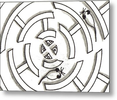 Rat Race Mouse Maze Metal Print by Joshua Hullender