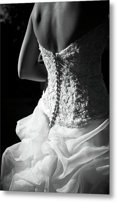 Rear View Of Bride Metal Print by John B. Mueller Photography
