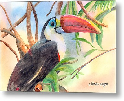 Red-billed Toucan Metal Print by Arline Wagner