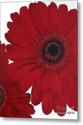 Red Gerber Daisy Metal Print by Marsha Heiken
