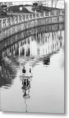 Reflections Of Church 2 Metal Print by Karol Livote