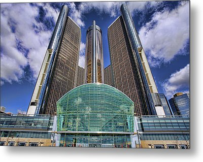 Rencen Detroit Gm Renaissance Center Metal Print by Gordon Dean II