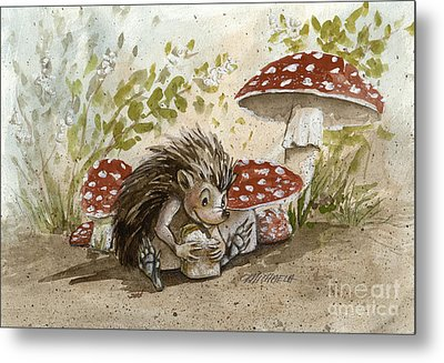 Rest Stop Metal Print by Michaela Eaves