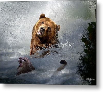 Riding The Gauntlet Metal Print by Bill Stephens