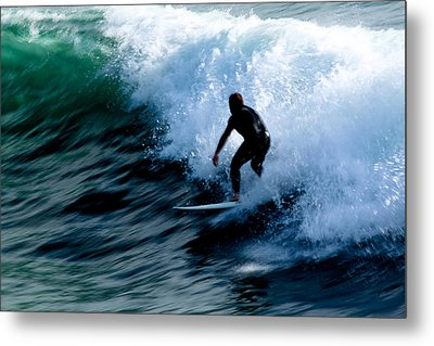 Riding The Waves Metal Print by Magdalena Green
