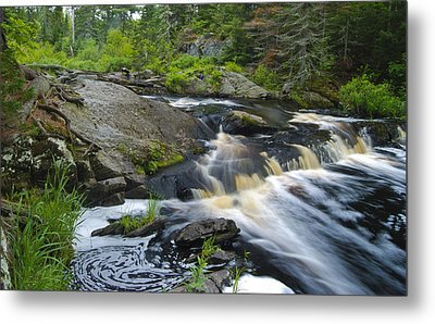 River Flow V Metal Print by Sean Holmquist