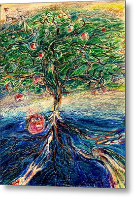 River Tree Metal Print by Laurie Parker