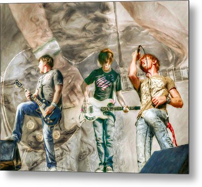 Rock And Roll Band Version 2 Metal Print by Randy Steele