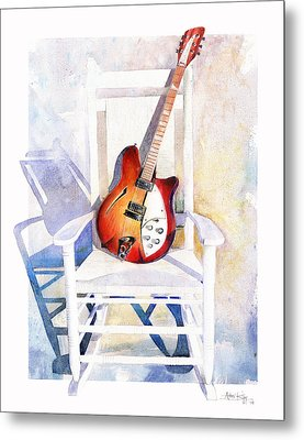 Rock On Metal Print by Andrew King