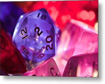 Role-playing D20 Dice Metal Print by Marc Garrido