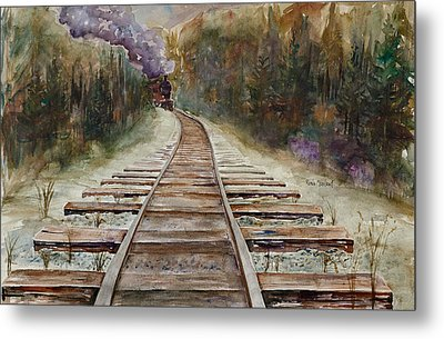 'round The Bend Metal Print by Renee Chastant