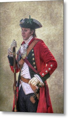 Royal Americans Officer Portrait  Metal Print by Randy Steele