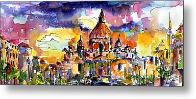 Saint Peter Basilica Rome Italy Metal Print by Ginette Callaway
