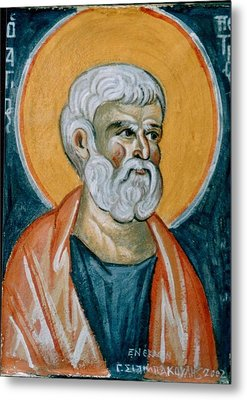 Saint Peter Metal Print by George Siaba