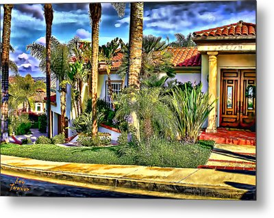 San Clemente Estate 3 Metal Print by Kathy Tarochione