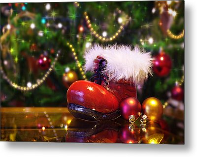 Santa-claus Boot Metal Print by Carlos Caetano