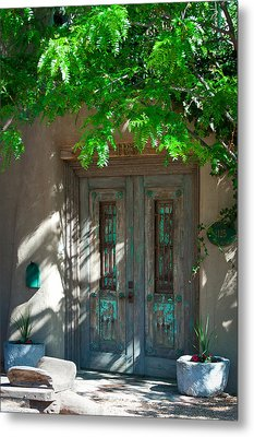 Santa Fe Door Metal Print by David Patterson