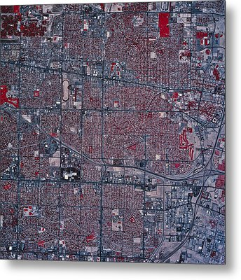 Satellite View Of Albuquerque, New Metal Print by Stocktrek Images
