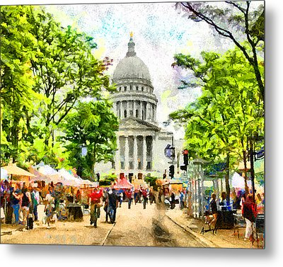 Saturday In Madison Metal Print by Anthony Caruso