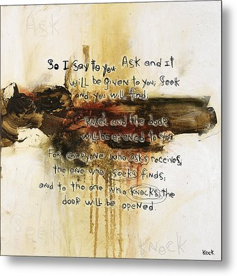 Scripture Christian Religious Abstract Art Print 111517 Metal Print by Michel Keck