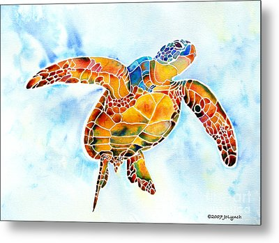 Sea Turtle Gentle Giant Metal Print by Jo Lynch