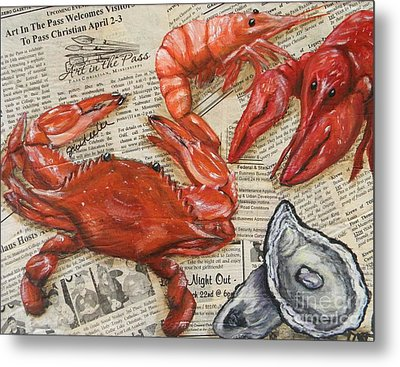 Seafood Special Edition Metal Print by JoAnn Wheeler