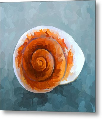 Seashell II Metal Print by Jai Johnson
