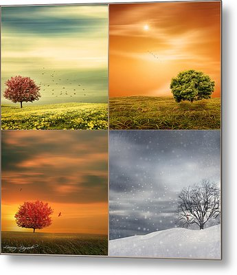 Seasons' Delight Metal Print by Lourry Legarde