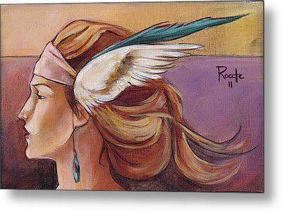 Secondary Wings Left Metal Print by Jacque Hudson