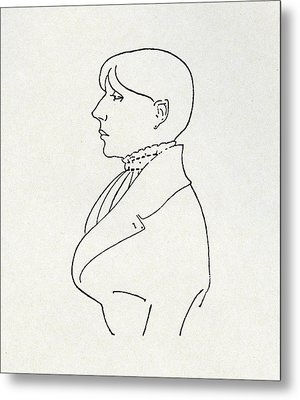 Self Portrait Metal Print by Aubrey Beardsley